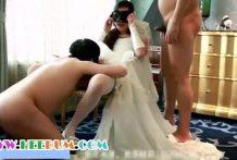 คลิปโป๊ล่าสุดฉาวมากเจ้าบ่าวและเพื่อน ๆ รุมเย็ดเจ้าสาวคาชุดแต่งงาน