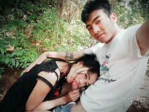 รูปหลุดไทยมาใหม่เปลี่ยนบรรยากาศเย็ดในป่า
